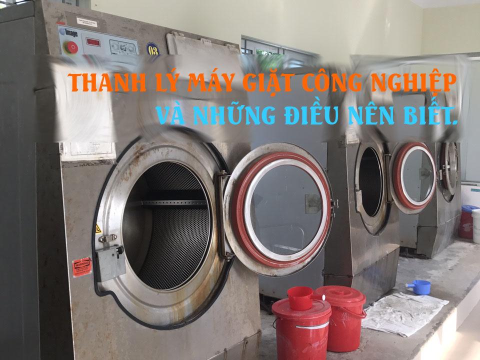 thanh lý máy giặt công nghiệp và những điều cần biết